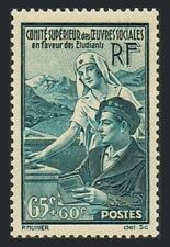 France B78,lightly hinged.Michel 435. Student Relief,1938.Student and nurse.