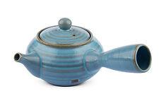 MAOCI Kyusu Teekanne himmelblau 550ml | Einhandkanne | Seitenhandkanne