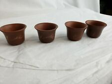 Set of vintage chinese small pottery cups