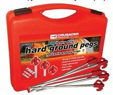 20 Hard Ground Tent Awning Pegs Heavy Duty Camping Outdoors Awning