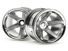 New! 2125 HPI S.S. TRUCK WHEELS FRONT (CHROME/2.2IN/2pcs) [Wheels & Tyres]