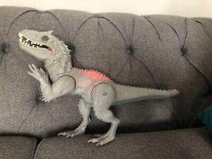 Large Jurassic World indominus rex toy  2014 Rare Hasbro 20 Inch Roaring JW