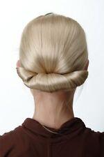 Haarteil Dutt Haarknoten sehr breit Haaraufsatz Tracht Turmfrisur blond Dame
