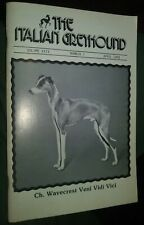The Italian Greyhound Illustrated Magazine Champion Photos & Articles Apr. 1983