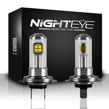 NIGHTEYE H7 80W LED Fog Tail Light Bulbs Driving Lamp DRL Headlight White