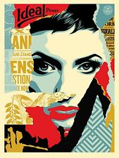 "Obey Ideal Power Silk Screen AP Print by Shepard Fairey Signed 18"" x 24"""
