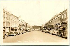 "LONGVIEW, Washington RPPC Real Photo Postcard ""STREET SCENE"" Downtown ELLIS 6701"