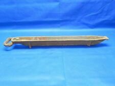 "Vintage Large 29"" Factory Ingot Mold Cast Iron Lead Casting Margach Feeder #12"