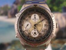 Sharp SS 7T32 5J60 Seiko 3 reg Chrono Mens Quartz Date Watch 42mm 7D0769