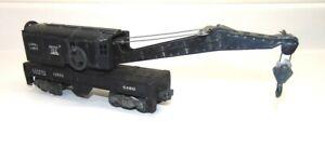 Vintage Lionel Bucyrus Erie Wreck Crane Train Car Lionel Lines #6460, Black