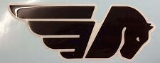 1 Adesivo Resinato Sticker 3D BUELL Cavallo  Black & White logo