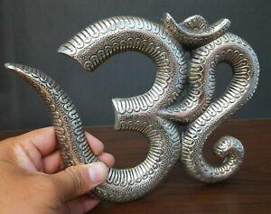 Om Wall Hanging Aluminium Metal Silver Color 17 cm Length