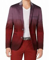 INC Mens Sport Coat Red Size 3XL Big & Tall Dip Dye Slim Fit Fred $129 #018