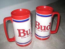 VINTAGE Plastic BUD BUDWEISER KING OF BEERS Plastic Mugs Stains Cup USED Mancave