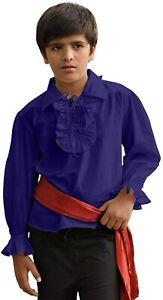 Kids Pirate Medieval Renaissance Medieval Costume 100% Cotton Captain Shirt