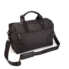 TED BAKER Men's Bag Wood Nylon Holdall Black With Removable Shoulder Strap