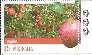 2012 $5 'Farming Australia Apples' 3 Koala Reprint: Right Selve Edge:Muh