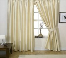 NEW JOHN LEWIS 100% SILK PENCIL PLEAT LINED CURTAINS W168CM X D136CM IVORY