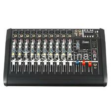 AW 10 Channel 2000 Watt Professional Powered Mixer w/ USB Slot Power Mixing