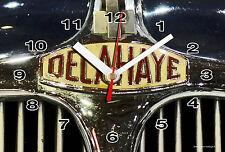 HORLOGE MURALE Logo ANCIEN DELAHAYE SUR TOLE BRONZE -01M