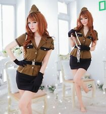 Sexy 8 Pieces Policewoman Cosplay Fancy Dress, Uniform Outfits Costume, Size S-M