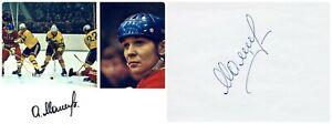 1970s Soviet Hockey Star Forward ALEKSANDR MALTSEV Orig Autograph 1980s