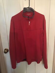 Sugoi Quarter Zip Red Long Sleeve Cycling Jersey Wired Men's 2XL