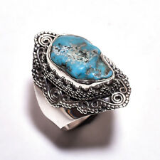 ANELLO DONNA ARGENTO 925 RING SILVER STERLING TURCHESE GREZZO RAW TURQUOISE 22