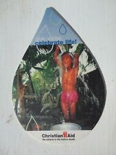 Beer drinks mats drip coaster CHRISTIAN AID GIVE WATER CELEBRATE LIFE RARE beer