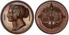 GREAT BRITAIN Victoria 1840 Bronzed AE Medal. PCGS SP64 Wyon Eimer 1336