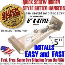 "5"" inch K Style Gutter Hanger Bracket with pre inserted self drilling screw/clip"