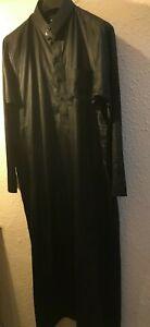 Mens BLACK Thawb Robe Islamic Jubba Arabic Dress Size 56/24