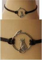 Cat Choker Necklace Mouse Jewelry Handmade NEW Black Chain Fashion Silver