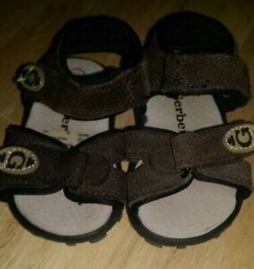Gerber Boys Girls Brown Sandals Shoes Size 3W