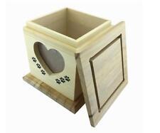 Handmade really wood Wooden Pet dog cat Urns Photo Memorial Urn Casket For Ashes