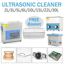 3 6 10 22L Floureon nettoyeur à ultrasons ultra sons chauffage couvercle panier