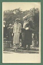 c1920's/30'S RP POSTCARD LADY AND MAYOR / DIGNITARIES AT A LOCAL CEREMONY