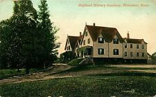 1909 POSTCARD HIGHLAND MILITARY ACADEMY WORCESTER MASSACHUSETTS MA