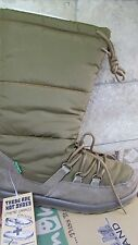 NEW SANUK CARIBOOT SUEDE DOWN WINTER BOOTS WOMENS 7 WARM TAN SUEDE & DOWN