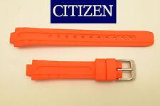 Citizen Eco Drive Lady's Original  Watch Band  ORANGE Rubber Strap EP6011-01E