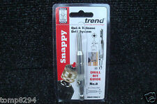 TREND SNAPPY HINGE FITTING DRILL BIT GUIDE No8 SNAP/DBG/7