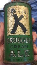 Krueger Cream Ale 12oz flat top beer can G.Krueger Brewing Newark, NJ USBC H ??B