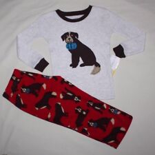 NEW~CARTERS TODDLER BOY 2 PIECE RED DOG WINTER PAJAMAS SIZE 2T