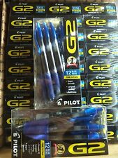 12 Pilot G2 Blue Fine Gel Ink Rolling Ball Pen Retractable 0.7mm Archival 31137