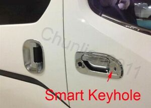 Full Set Door Handle Bowl Cover Trim For Nissan NV200 ABS 8PCS Smart Key