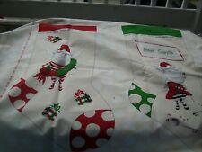 Fabric panel Olivia the Pig Christmas stockings