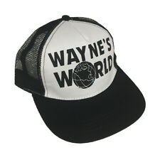 White Wayne's World Trucker Hat Costume Movie Cap Campbell SNL movie Black Gift