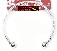10 Pc. Lot 925 Sterling Silver Bracelet Bangle Womens Adjustable Twist D405