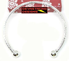 10 Pc. Lot 925 Sterling Silver Bracelet Bangle Womens Adjustable Twist D405