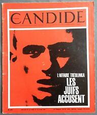 ► CANDIDE 260/1966 - TREBLINKA - CHAPLIN - HEMINGWAY - YEHUDI MENUHIN